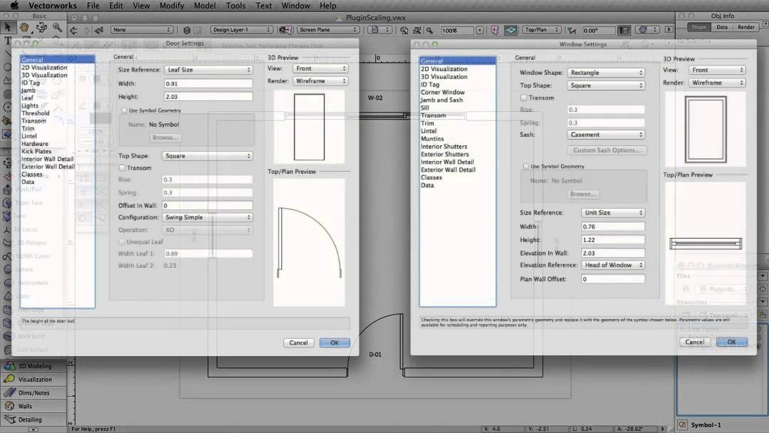 Scaling Text Symbols And Other Resources In Vectorworks Youtube