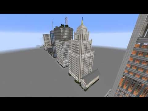 Minecraft - Megabuild Height Comparison