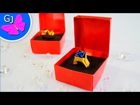 Коробочка для кольца своими руками для кольца