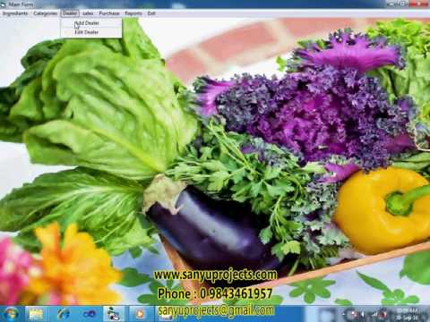 Organic Food Shop Management System vb6.0 Ms-Access Project