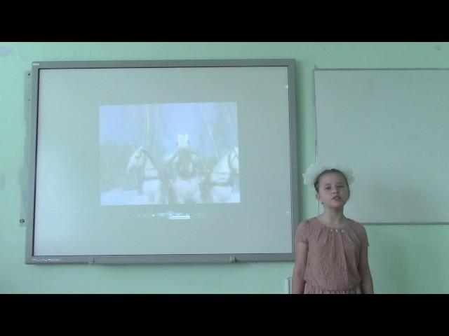 Изображение предпросмотра прочтения – МаргаритаМокрушина читает произведение «Снежок» Н.А.Некрасова