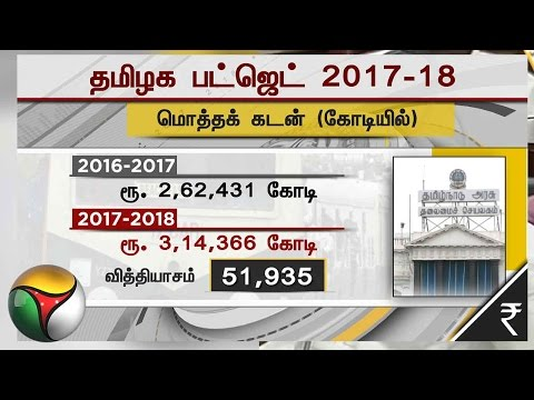 Tamil Nadu Budget 2017-18: Finance Minister Jayakumar Presents Tax Free Budget | Part 1
