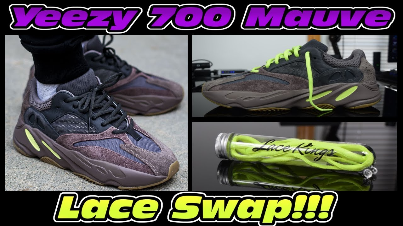 premium selection 0d8d4 74808 DOPE YEEZY 700 MAUVE LACE SWAP!!! ''YEEZY 700'' LACE LENGTH SIZE GUIDE!!!
