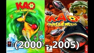Evolution of Kao the Kangaroo 2000 - 2005