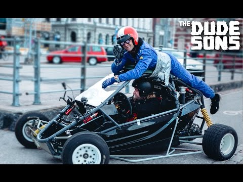 CASEY NEISTAT Duct Taped To A Racecar in HELSINKI,  FINLAND