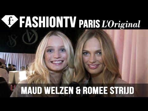 Victoria's Secret Fashion Show 2014-2015 BACKSTAGE:  Maud Welzen & Romee Strijd | FashionTV