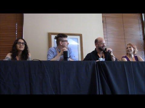 Jessica Calvello, David Wald, Blake Shepard & Dawn Bennett Voice Actor Q & A at Otaku Fair 2017