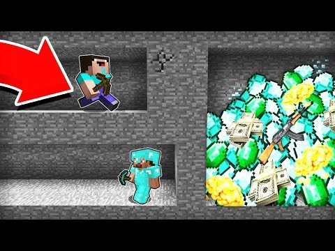 Minecraft - NOOB Vs PRO : HOW NOT TO DIG A SECRET MINE In Minecraft! Challenge 100% Trolling