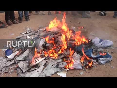 State Of Palestine: Dozens Injured As Israeli Flags Burn At Gaza Border Protest