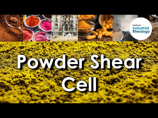 Powder Shear Cell - Characterising powder flow behaviour