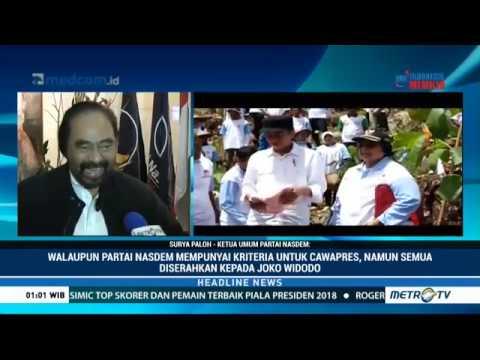 NasDem Bebaskan Jokowi Pilih Pendampingnya Di Pilpres 2019