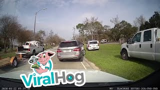 car-ramps-off-truck-s-trailer-viralhog