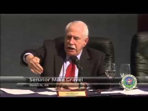 US Senator Mike Gravel on UFO Cover-up at the Citizen Hearing 1 of 2