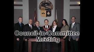 Feb 20, 2018: Council-in-Committee Meeting