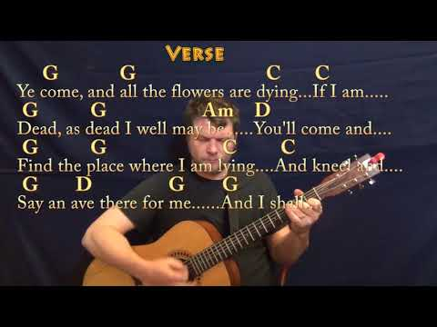 Danny Boy (Traditional) Guitar Lesson Chord Chart in G with Chords/Lyrics