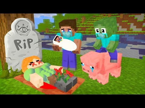 ALEX LIFE - WHEN ALEX BECAME MOTHER ( RIP ALEX ) - SAD MINECRAFT ANIMATION PLUS MONSTER SCHOOL