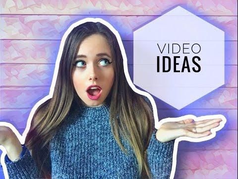 100 VIDEO IDEAS!!