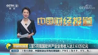 [中国财经报道]1至5月我国软件产业业务收入达2.63万亿元| CCTV财经