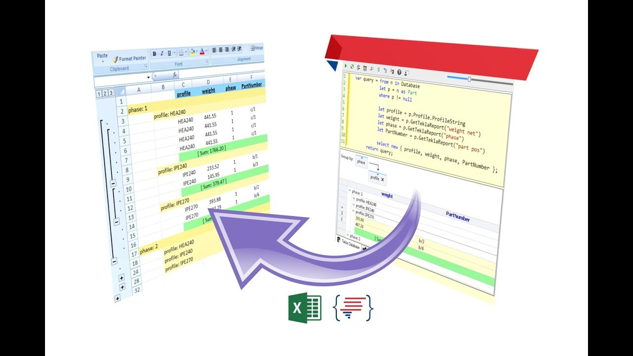 Write Selected Beam Members to an Excel File (Tekla Open API