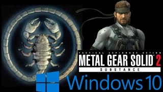mETAL GEAR SOLID 2 - correzione FIX Windows 10,8,7
