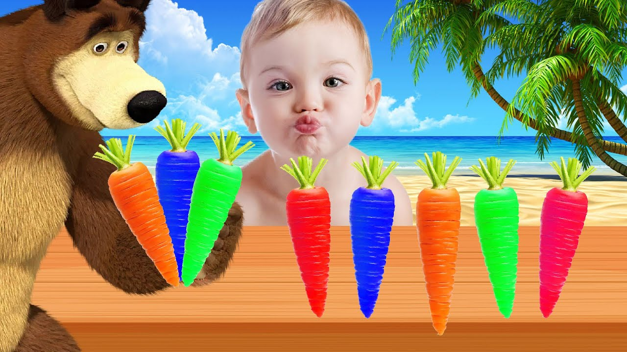 Learn Colors with Vegetables Finger Family Song Collection - Learn colours for children