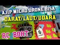 CARA MEMBUAT RC BOAT MURAH DENGAN MICRO DRONE
