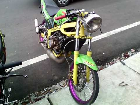 Modifikasi Kawasaki Ninja R Warna Hijau Modif Ninja R 150