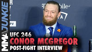 UFC 246: Conor McGregor post fight interview