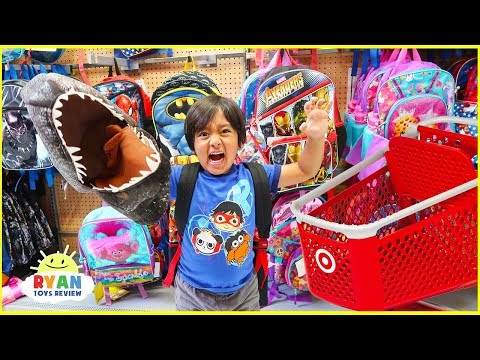 Back To School Shopping for School Supplies with Ryan
