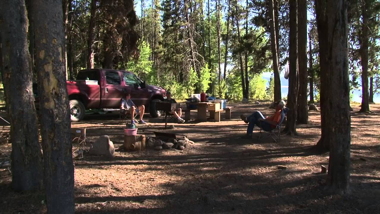Barneys Campground at Deadwood Reservoir in Idaho