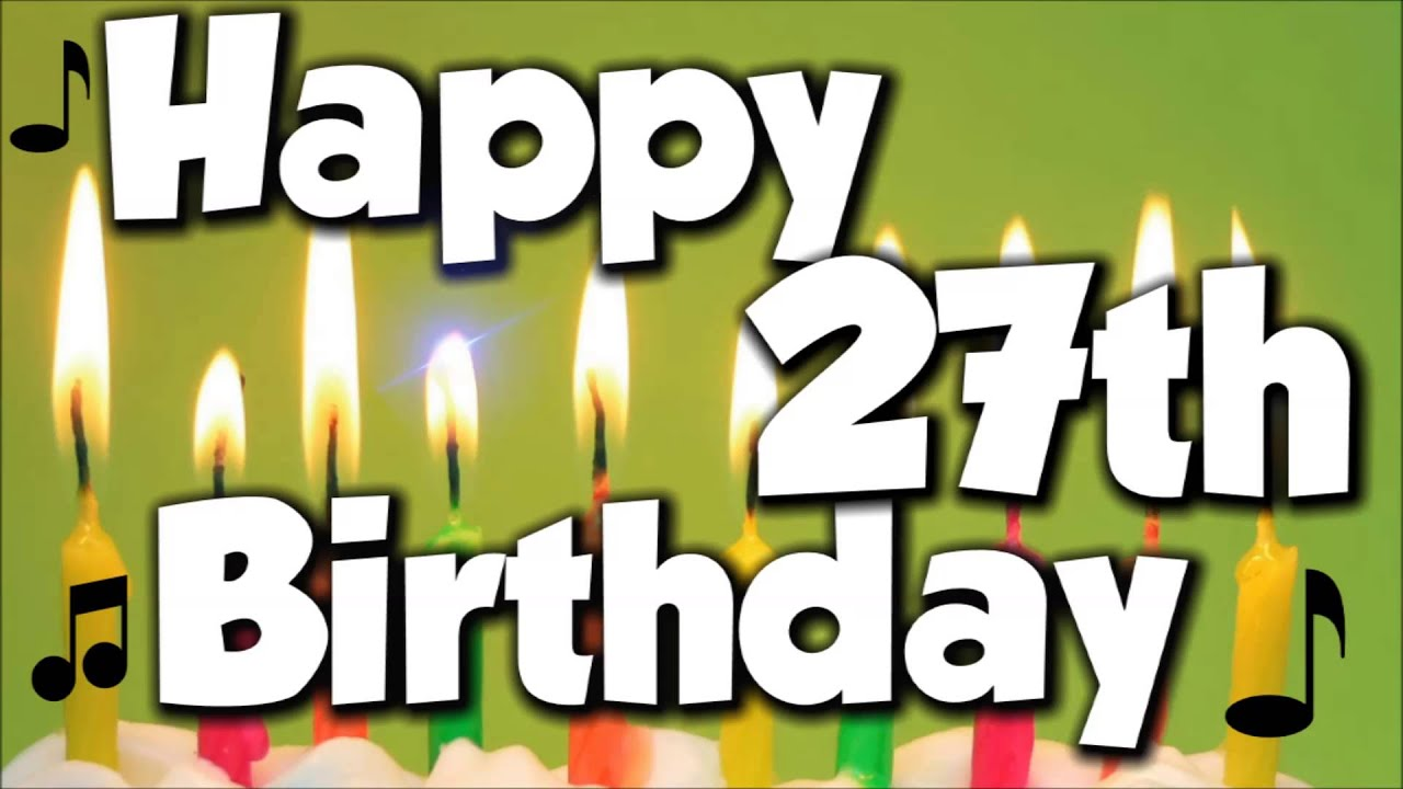 Image result for Happy 27th Birthday