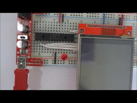 TSC2046 XPT2046 TOUCH SCREEN ILI9341 - YouTube