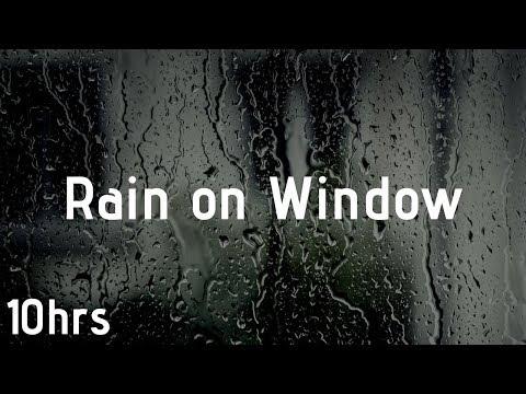 10 HOURS Gentle Rain Sounds On Window | Calm Rain | Black Screen Rain For Sleep, Study