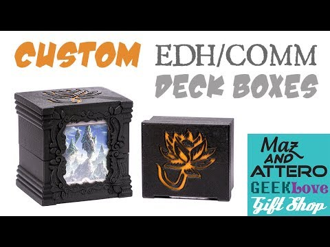 Custom EDH/Comm Deck Boxes - Maz And Attero Product Demo