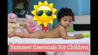 Summer Essentials For Babies | mamaearth baby care products | Sushmita's Diaries