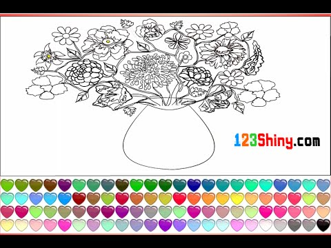 Flower Vase Coloring Pages For Kids Flower Vase Coloring Pages