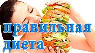 Меню правильного питания для похудения Правильная диета
