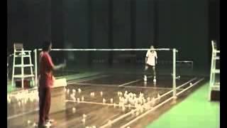 азиатская тренировка по бадминтону (часть 04)