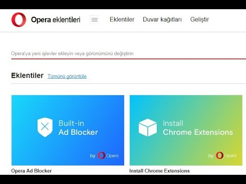 Opera Tarayıcıya Google Translate(Google Çeviri) Eklentisi Ekleme