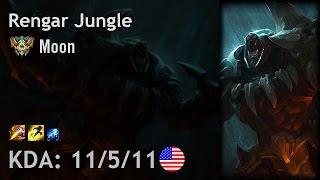 Rengar Jungle vs Lee Sin - Moon - NA Challenger Patch 6.24