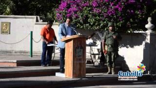 Alcalde JLN conmemora el Día Nacional de Protección Civil - Calvillo