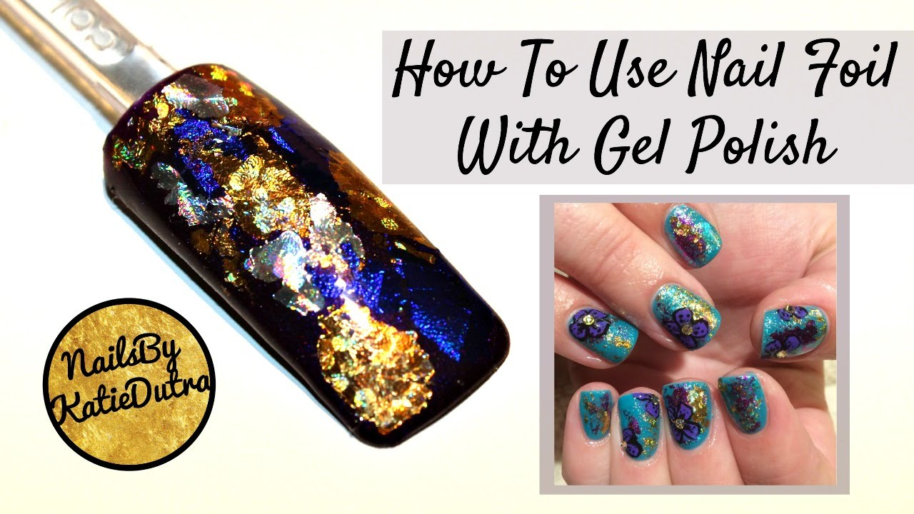 How To Use Nail Foil With Gel Polish Simple Art