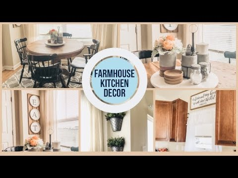 Decorate With Me | Spring and Summer Kitchen | Simple Farmhouse Decor | HazFam