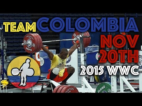 Team Colombia - 2015 WWC Training Hall (Nov 20)