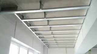 потолок из гипсокартона с нишей для штор. Drywall ceiling.