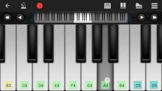 Aye Watan Tere Liye Mobile Perfect piano tutorial