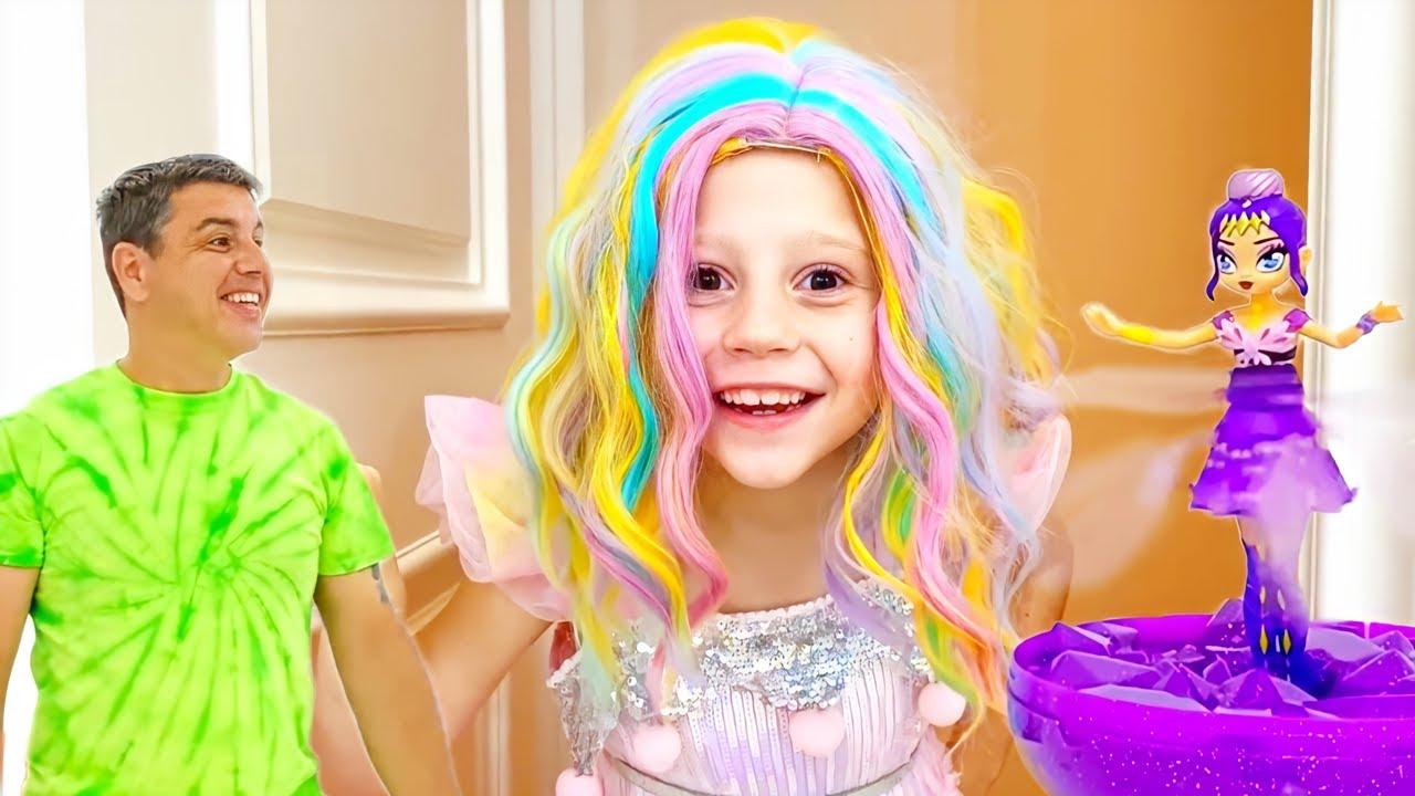 Nastya y la nueva muñeca mágica voladora, juguetes para niñas