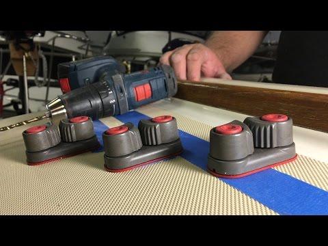 Mounting Sailboat Hardware On Deck