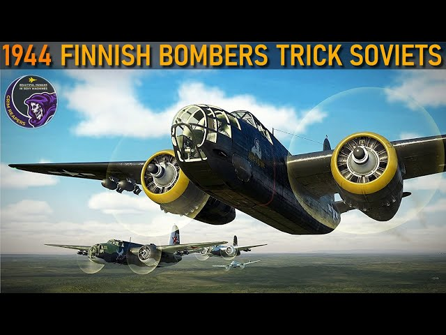 1944 Finnish Bombers Infiltrate Soviet Bomber Formations | IL-2 Reenactment