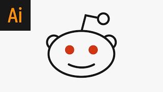 Design the Reddit Logo Illustrator Tutorial